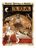 Paris, France - Le Reve Ballet Performance Opera House Promo Poster Posters by  Lantern Press
