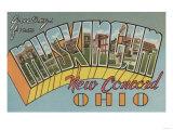 New Concord, Ohio - Muskingum County Print by  Lantern Press