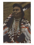 Northwest Indians - Chief Joseph of the Nez Perces Tribe Print by  Lantern Press