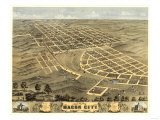 Macon, Missouri - Panoramic Map Print by  Lantern Press