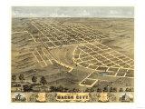 Macon, Missouri - Panoramic Map Print