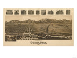 Ogden, Utah - Panoramic Map Print by  Lantern Press