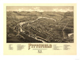 Pittsfield, New Hampshire - Panoramic Map Print by  Lantern Press