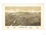 Oxford, New York - Panoramic Map Print by  Lantern Press