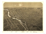 Niles, Michigan - Panoramic Map Poster by  Lantern Press
