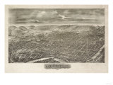 Reading, Pennsylvania - Panoramic Map Poster