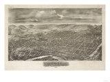 Reading, Pennsylvania - Panoramic Map Poster