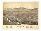 Ogden, Utah - Panoramic Map Posters by  Lantern Press