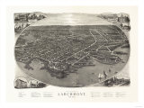 Larchmont, New York - Panoramic Map Posters by  Lantern Press