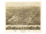 Ripon, Wisconsin - Panoramic Map Posters by  Lantern Press