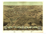 Pontiac, Michigan - Panoramic Map Posters