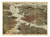 Norfolk, Virginia - Panoramic Map Posters by  Lantern Press