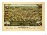 Mattoon, Illinois - Panoramic Map Posters