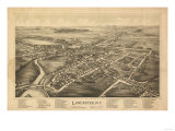 Lancaster, New York - Panoramic Map Posters by  Lantern Press