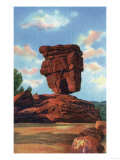 Pikes Peak, Colorado - Balanced Rock, Garden of the Gods Posters by  Lantern Press