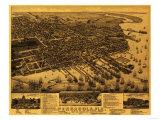 Pensacola, Florida - Panoramic Map Posters