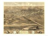 Lincoln, Illinois - Panoramic Map Print