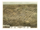 Raleigh, North Carolina - Panoramic Map Print by  Lantern Press