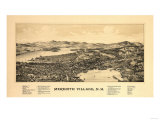 Meredith, New Hampshire - Panoramic Map Print