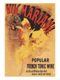 Paris, France - Vin Mariani Dancing Girl Pouring Wine Promotional Poster Print