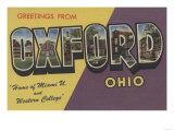 Oxford, Ohio - Miami U & Western College Posters by  Lantern Press