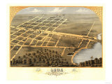 Loda, Illinois - Panoramic Map Posters