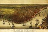 New Orleans, Louisiana - Panoramic Map Posters