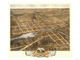 Naperville, Illinois - Panoramic Map Posters