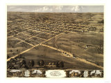 Palmyra, Missouri - Panoramic Map Posters by  Lantern Press