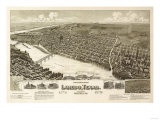 Laredo, Texas - Panoramic Map Posters by  Lantern Press