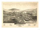 Luzerne, New York - Panoramic Map Posters by  Lantern Press