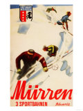 Murren, Switzerland - Inferno Races Promotional Poster Plakaty autor Lantern Press
