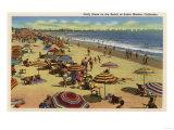 Santa Monica, California - A Daily Scene on the Beach Print