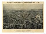 Providence, Rhode Island - Panoramic Map Poster von  Lantern Press