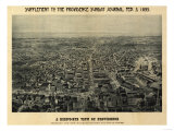 Providence, Rhode Island - Panoramic Map Posters