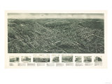 Pearl River, New York - Panoramic Map Posters by  Lantern Press