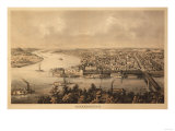 Parkersburg, West Virginia - Panoramic Map Posters by  Lantern Press