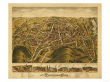Rockville, Connecticut - Panoramic Map Poster by  Lantern Press