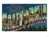 Palm Springs, California - Large Letter Scenes Poster by  Lantern Press