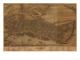 Portland, Maine - Panoramic Map Poster by  Lantern Press