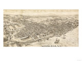 Newburgh, New York - Panoramic Map Poster by  Lantern Press