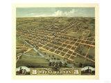 Mount Vernon, Ohio - Panoramic Map Poster