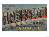 Lakeside, Ohio - Lake Erie Poster by  Lantern Press
