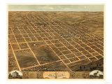 Monmouth, Illinois - Panoramic Map Poster by  Lantern Press