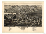Las Vegas, New Mexico - Panoramic Map Poster