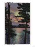 Payette Lake, ID - Evintide on Lake Scene Poster