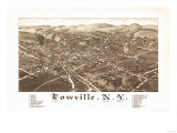 Lowville, New York - Panoramic Map Poster by  Lantern Press