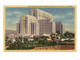 Los Angeles, California - LA County General Hospital Poster by  Lantern Press
