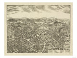 Pawling, New York - Panoramic Map Poster by  Lantern Press
