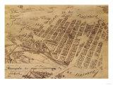 Minneapolis, Minnesota - Panoramic Map Posters